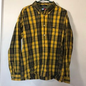 Tommy Jeans Long Sleeve Plaid Shirt XL Men's